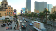 Stock Video Footage of Road car traffic in Las Vegas, Strip street time-lapse 4K