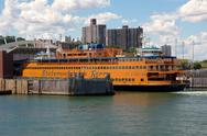 Stock Photo of Docked Staten Island Ferry