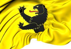 flag of adlikon bei andelfingen - stock illustration