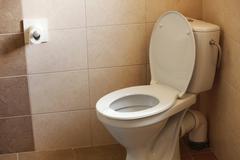 Kulhon, koti huuhtele wc ja paperi Kuvituskuvat