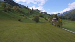 AERIAL: Austrian contryside in late autumn Stock Footage