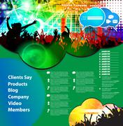 Stock Illustration of Website layout