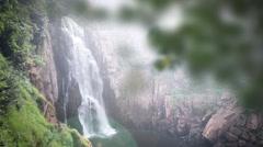 Haew Na Lok waterfall, Khao Yai, Thailand Stock Footage