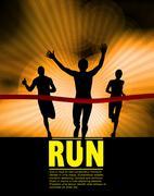 Marathon vector illustration Stock Illustration