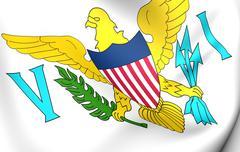 Virgin islands of the united states flag Stock Illustration