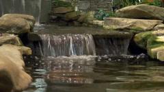 Water fall garden Stock Footage