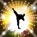 Stock Illustration of Karate. Vector