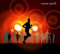 Stock Illustration of Marathon vector illustration