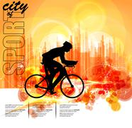 Sport road bike riders bicycle. Vector - stock illustration