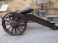 An old cannon in Jaigarh fort, jaipur Stock Photos