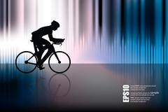 Sport road bike riders bicycle. Vector Stock Illustration