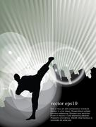 Karate. Vector Stock Illustration