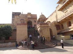 Main Entrance Amer fort, Jaipur - stock photo