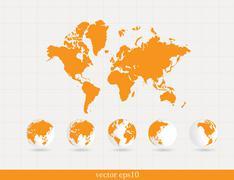 Stock Illustration of World map