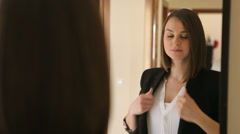 woman getting ready - stock footage