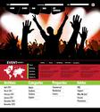 Concert crowd in front of stage. Vector illustration Stock Illustration