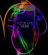 Smartphone Color Light Smoke Swirls PSD Template