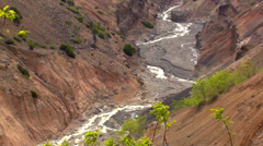 0921 Small mountain river, Los Andes, Chile Stock Footage