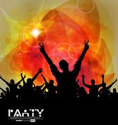 Music club background for disco dance international event Stock Illustration