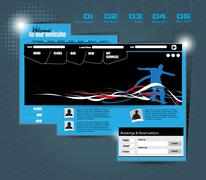 Stock Illustration of Web template with sport subject