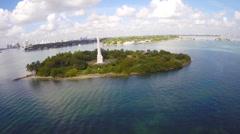 Flagler Monument Miami Beach Stock Footage
