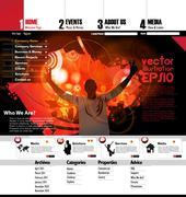 Stock Illustration of Music Website Template