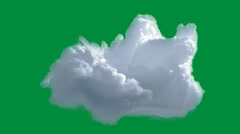 Animated cloud - green screen Stock Footage