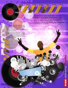 Concert. Vector illustartion - stock illustration