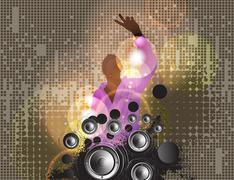 Concert poster. Vector illustration Stock Illustration