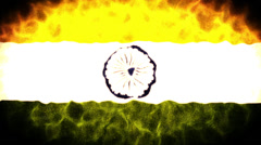 India Flag Loop Stock Footage
