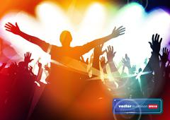 Music event background - stock illustration