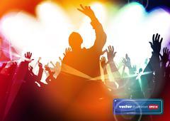 Music event background - stock illustration