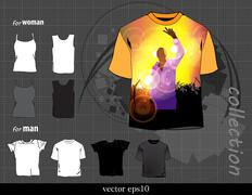 Stock Illustration of Abstract t-shirt design vector illustration