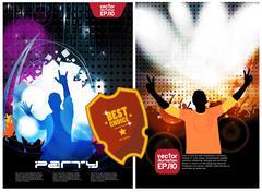 Concert poster. Vector illustration - stock illustration
