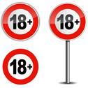 Stock Illustration of Age restriction sign