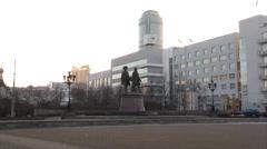 The monument(Founders Ekatrerinburga) Stock Footage