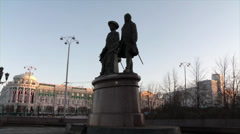 The monument in Yekaterinburg Stock Footage