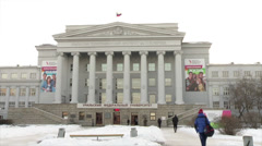 Ural Federal University: Boris Yeltsin Stock Footage