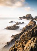 Coastal seascape in galicia, spain Stock Photos
