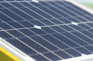 Stock Photo of close up solar cell, renewable energy