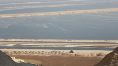 Panoramic View from Sodom Mount to the Dead Sea Stock Footage