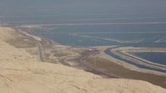 Panoramic View from Sodom Mount to the Dead Sea - stock footage