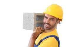 Manual worker or bricklayer Stock Photos