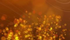 4k Orange gold bokeh dust particles twinkling film Stock Footage