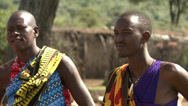 Stock Video Footage of Masai men traditionally dressed 2