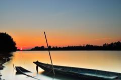 longtail boat - stock photo