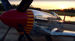 WWII North American P-51C Mustang - stock footage