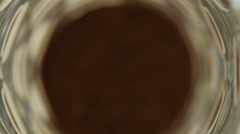 Black Coffee in cup Stock Footage