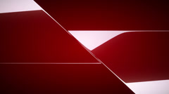 Red diagonal leafs or folds opening with Alpha. Rewind to close Stock Footage