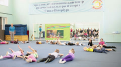 Urban Children and Youth Sports Center in Saint-Petersburg, Russia Stock Footage